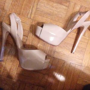 Cream Steve Madden high heels